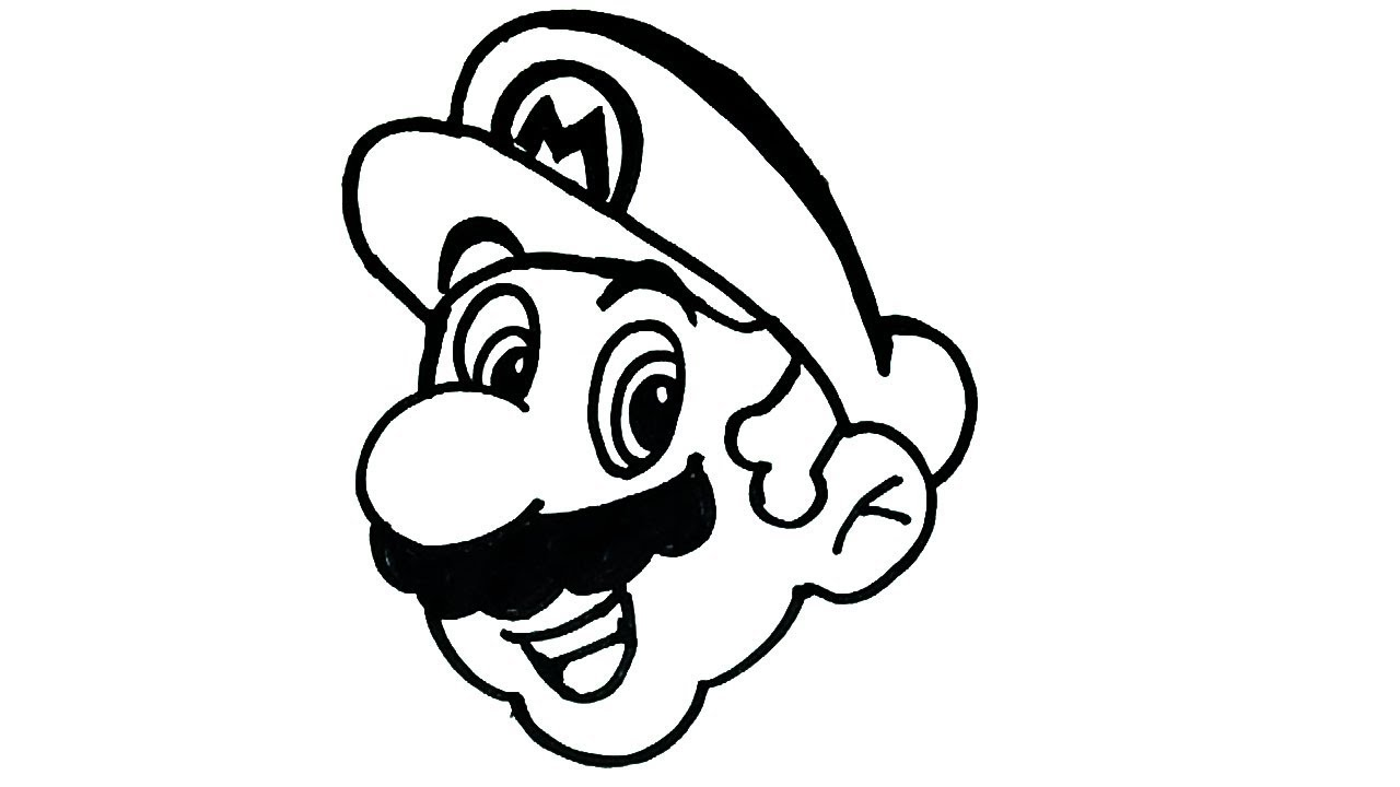 1280x720 How To Draw Mario Cartoon Characters Drawing Easy Step