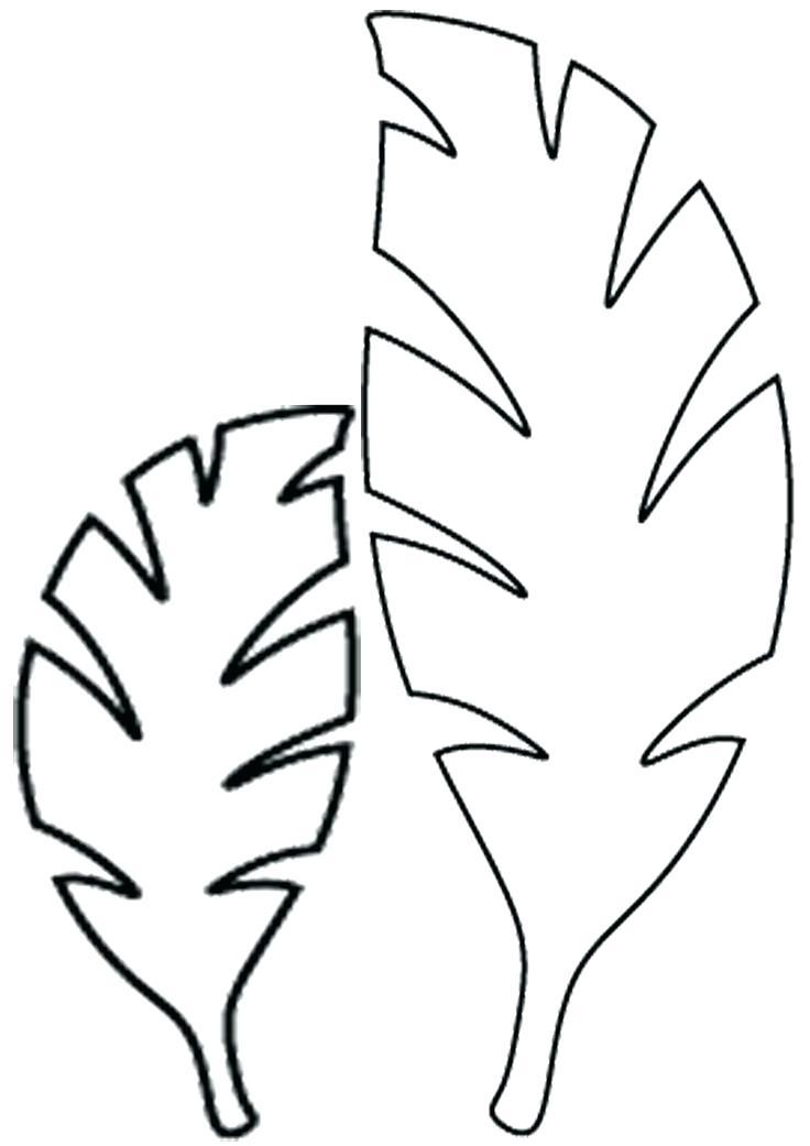 736x1041 Free Printable Jungle Leaf Template