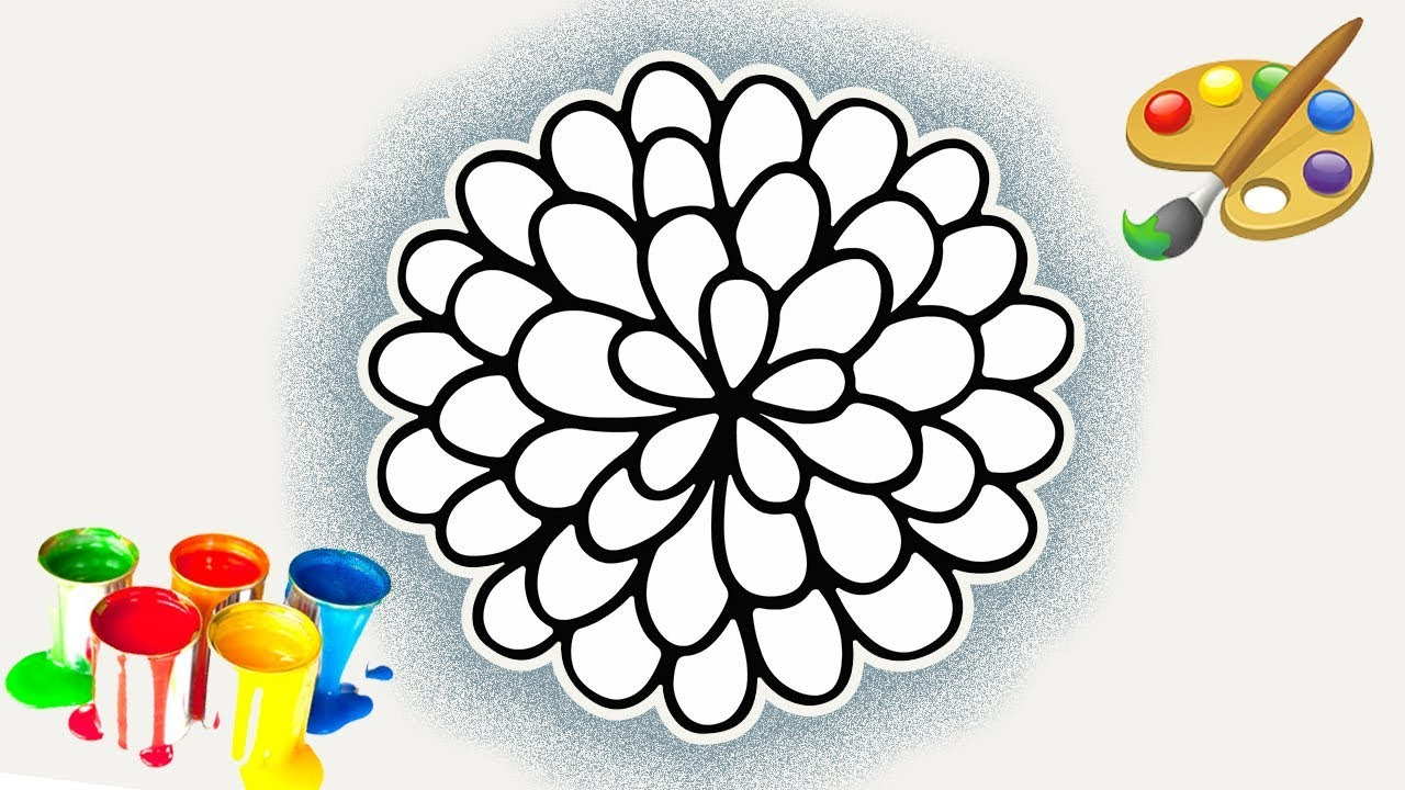 1280x720 Drawing A Beautiful Flower