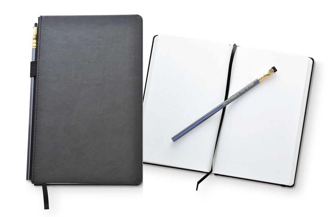 1280x836 palomino blackwing slate drawing journal + pencil, x dot