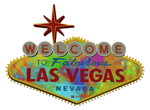 600x440 Welcome To Las Vegas Sign Digital Drawing Paint Throw Pillow