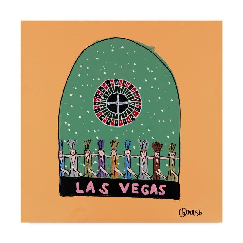 800x800 Winston Porter 'las Vegas Snow Globe' Drawing Print On Wrapped