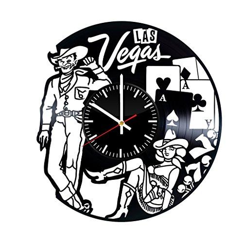 500x500 Las Vegas City Skyline Vinyl Clock
