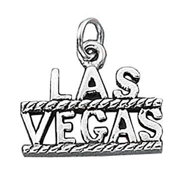 374x395 Sterling Silverlas Vegas Good Luck Word Charm Jewelry