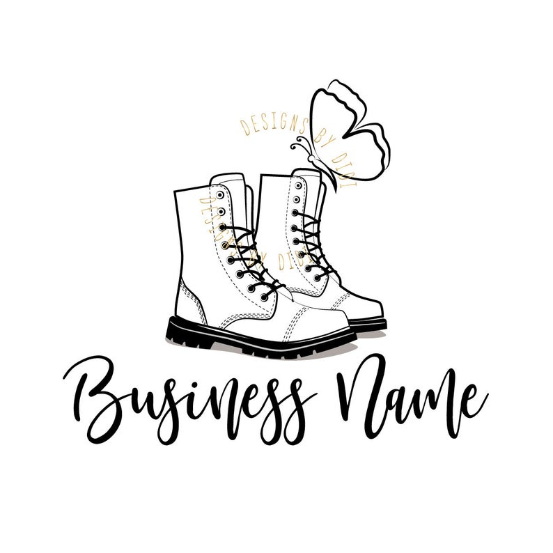 794x794 custom logo design boots butterfly logo logo boutique etsy