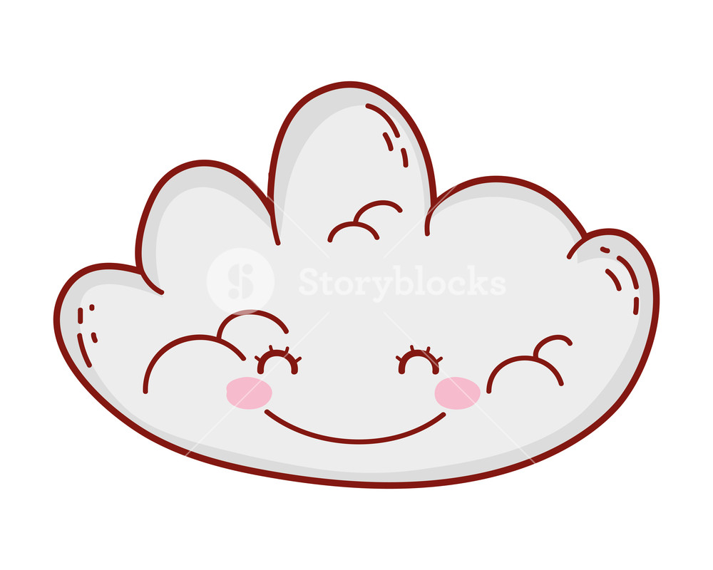 1000x800 Cute Cloud Drawing Cartoon Vector Illustration Graphic Design