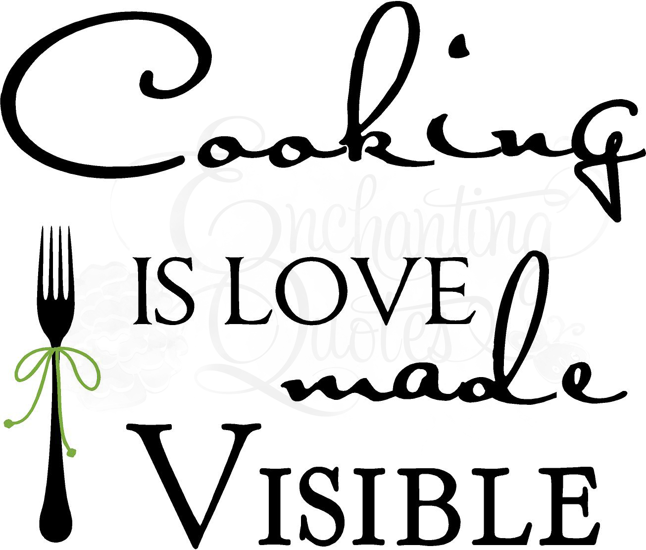 1305x1110 Kitchen Decals Kitchen Wall Quotes Cooking Is Love Made Visible