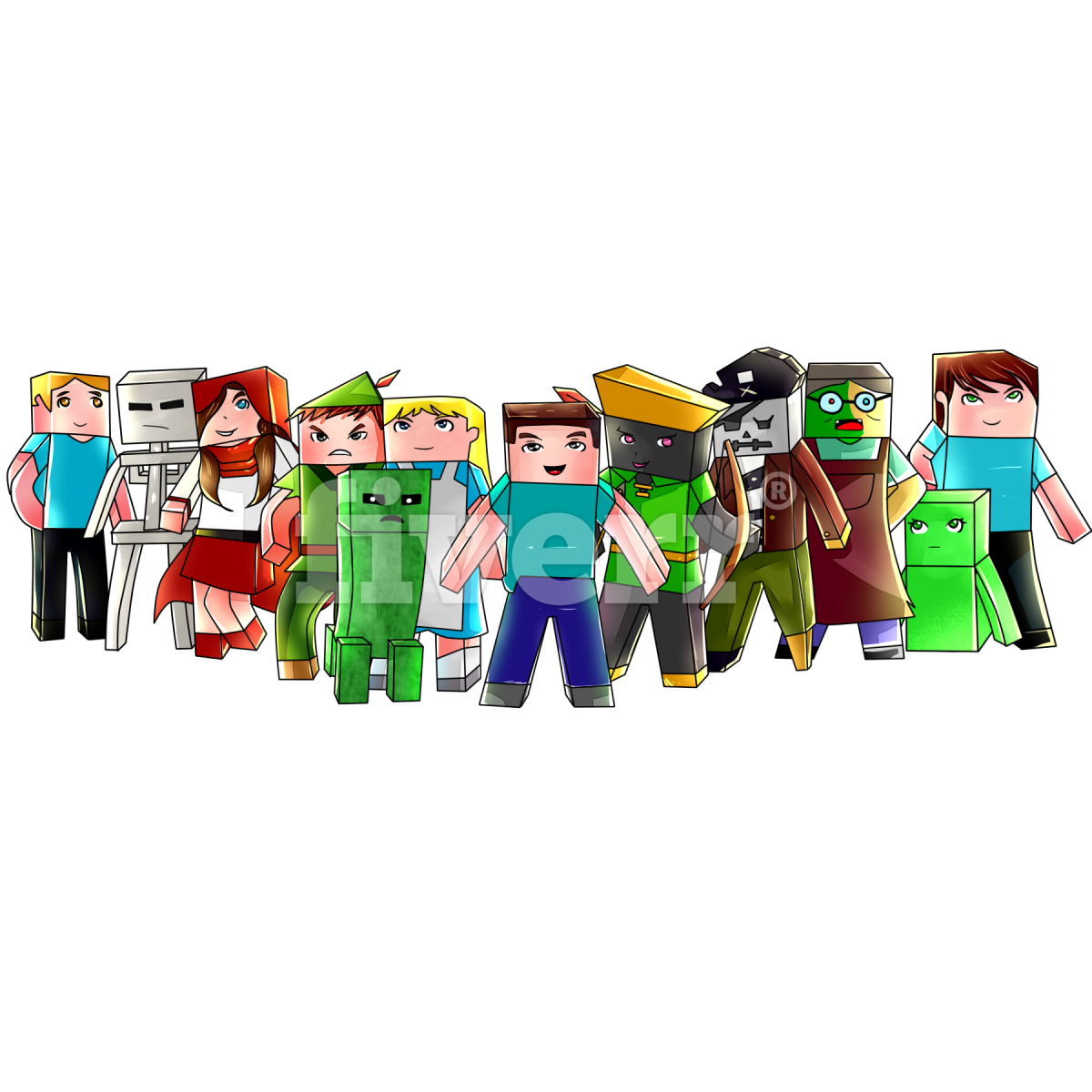 Drawing Minecraft Characters