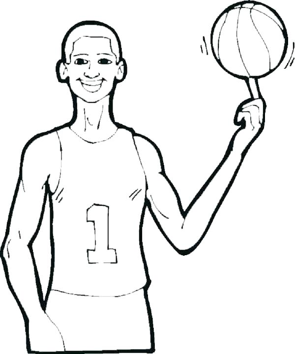 600x720 basketball players coloring pages basketball player coloring pages
