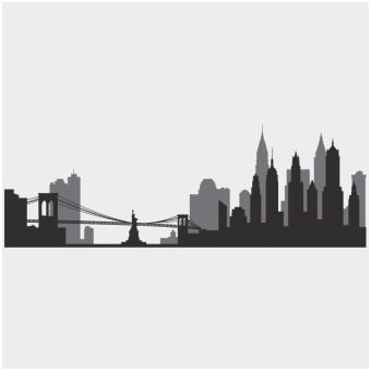 340x340 New York Skyline Coloring