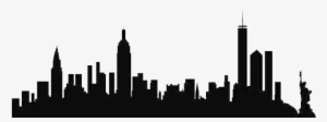 300x112 new york skyline silhouette png download transparent new york