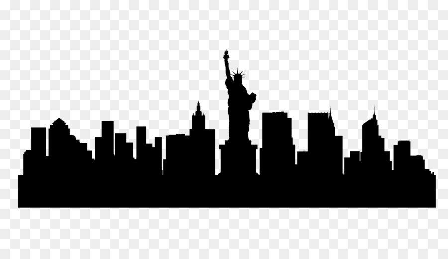 900x520 Skyline, Silhouette, Drawing, Transparent Png Image Clipart Free