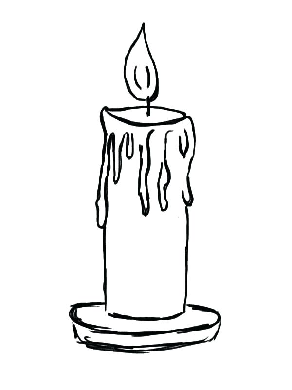 600x800 Drawing Of Candle A Simple Flame How To Draw Candle Flame