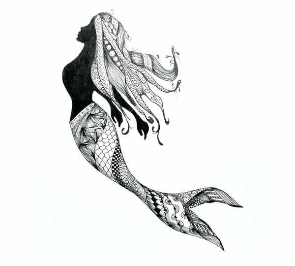 600x540 A Drawing Of A Mermaid How To Draw A Mermaid Mermaids Drawing