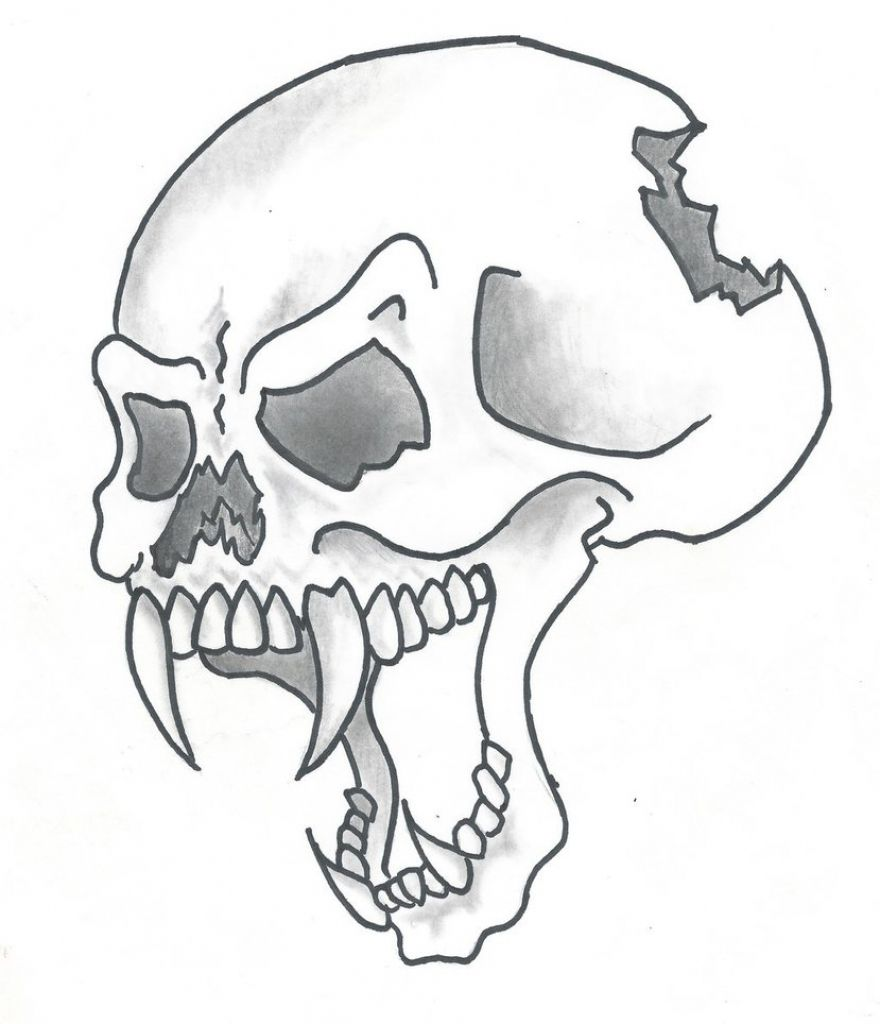 880x1024 Cool Drawing Of Skulls