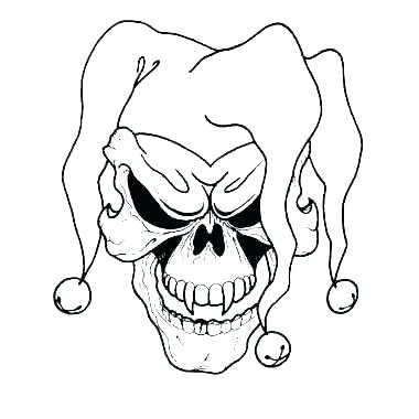 380x380 Drawing Of A Scary Clown Evil Clown Drawings Step Draw Scary