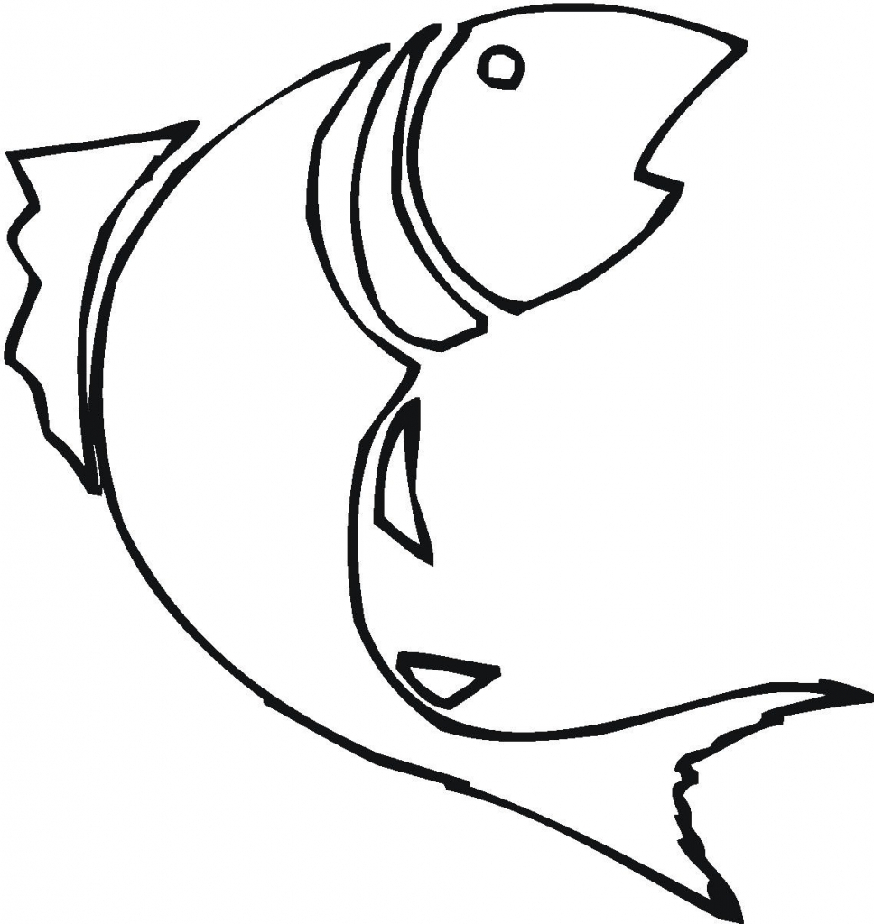 968x1024 Simple Drawing Of A Fish