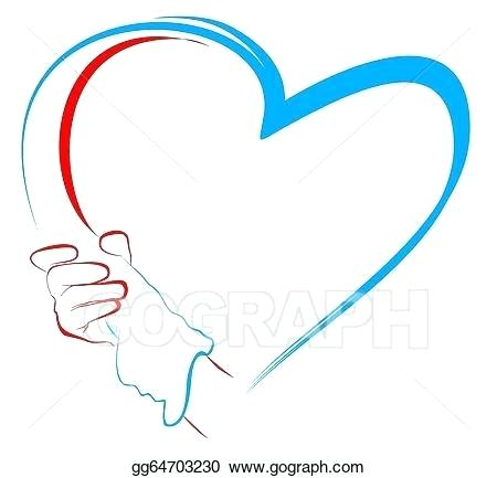 450x433 Drawing Of A Hand Holding A Heart Running