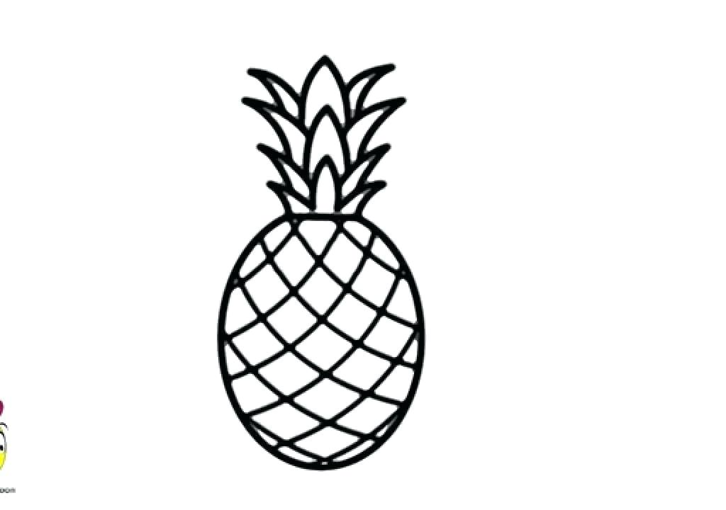 1024x720 Drawing Of A Pineapple