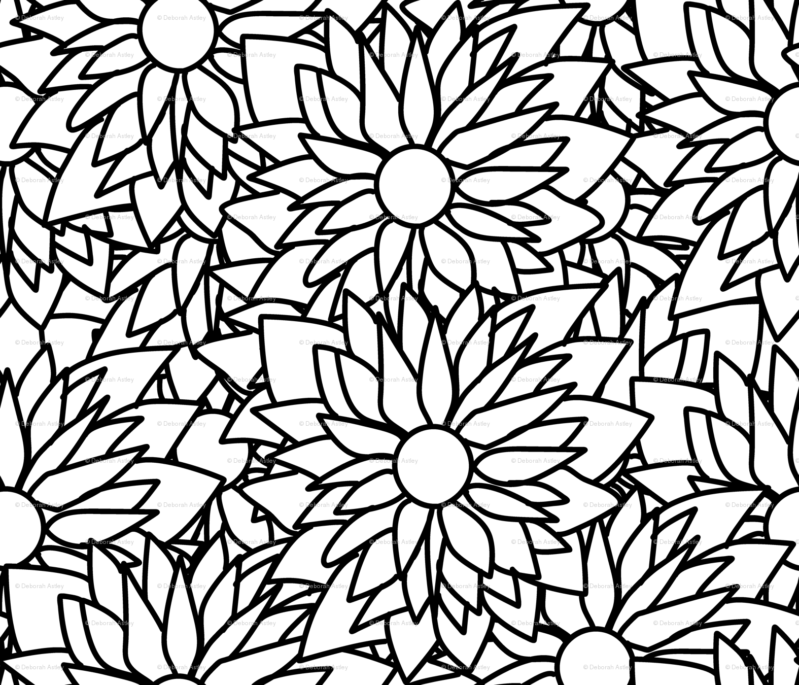 1575x1350 a crowd of shaggy daisies wallpaper