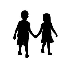 Drawing Of A Girl And Boy Holding Hands