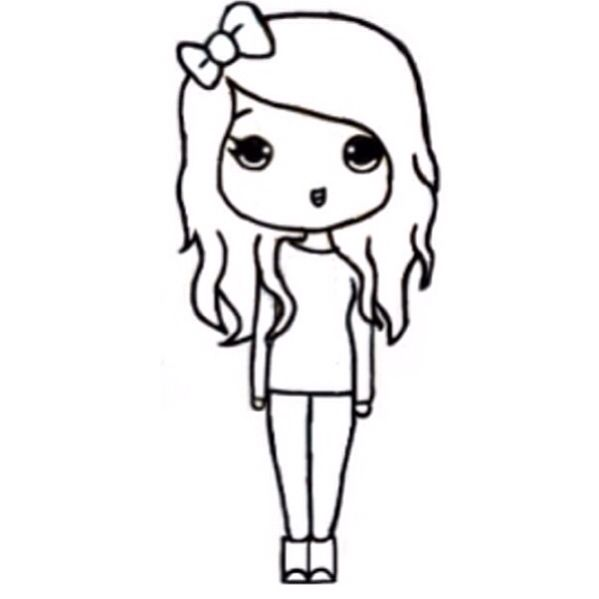 Drawing Of A Girl Easy For Kids Free Download Best Drawing
