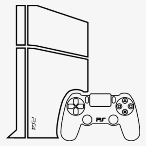 Drawing Of A Ps4 Controller