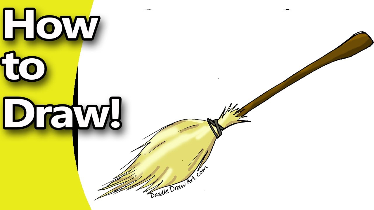 1280x720 witch broom drawing how to draw a witches broom stepstep with free