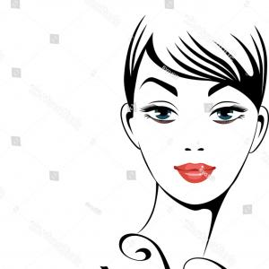 300x300 Stock Photo Face Of Beautiful Woman Sketch Portrait Black
