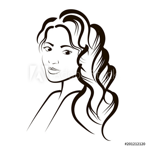500x500 Sketch Of A Woman's Portrait