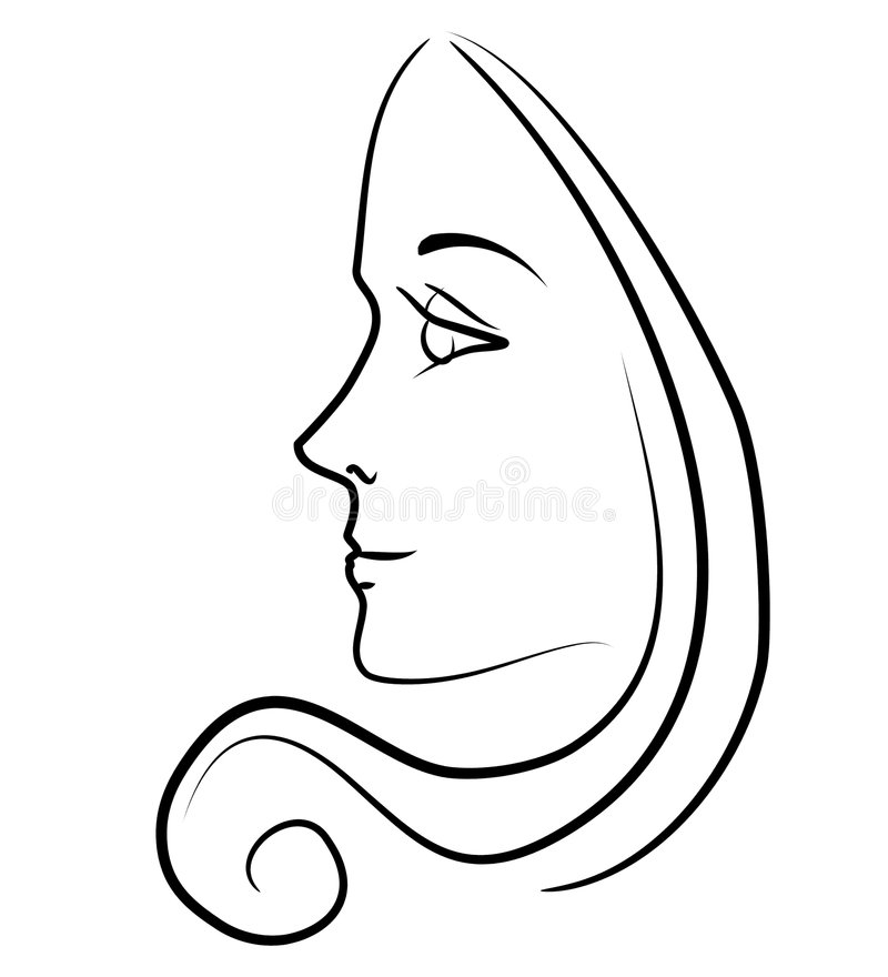 800x880 Collection Of Free Curled Clipart Woman Side Face Download On Ui Ex
