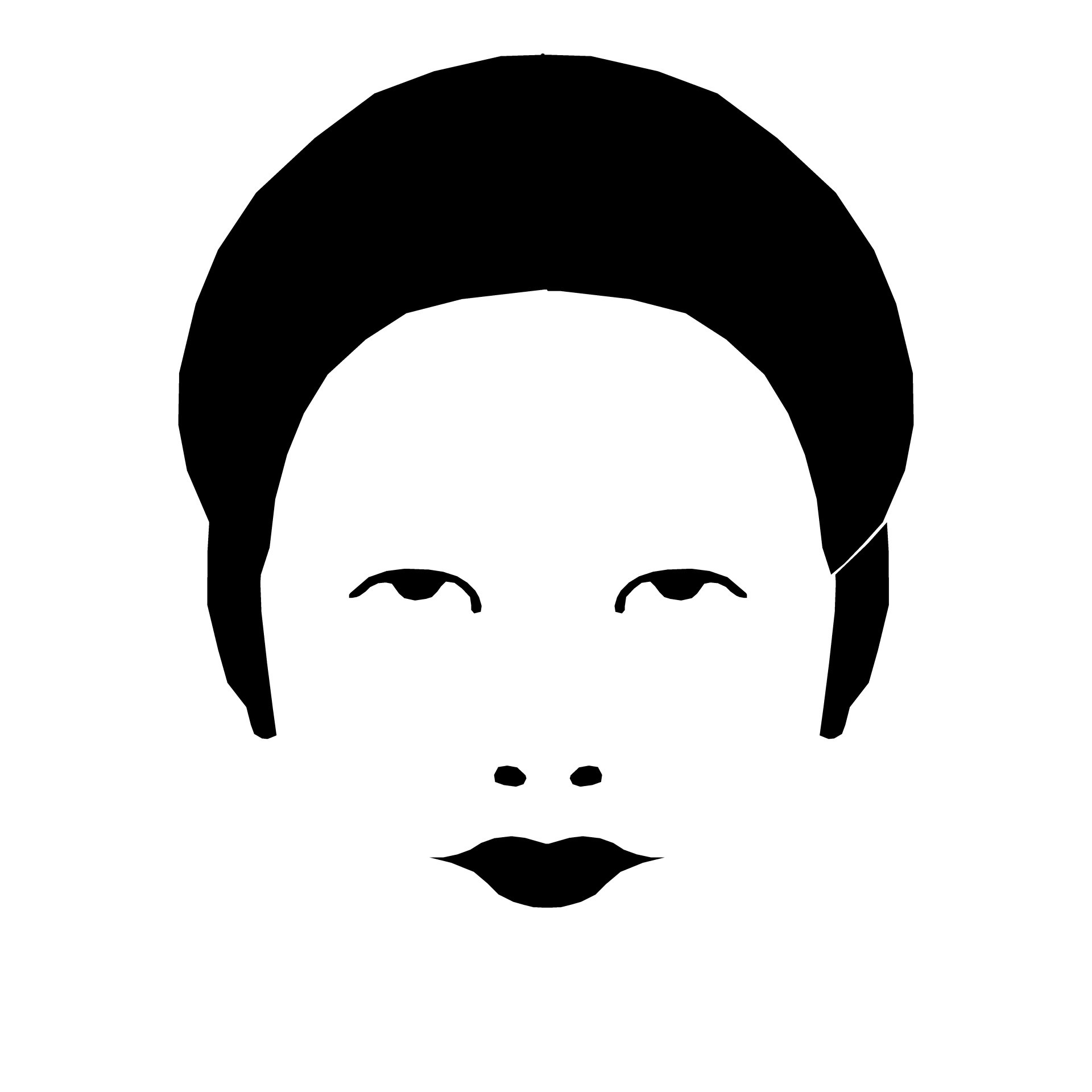 1920x1920 Drawing Of Woman's Head With Face Features Free Image