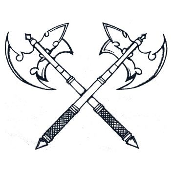 350x350 battle axe tattoo designs pin pin battle axe warrior women tattoo