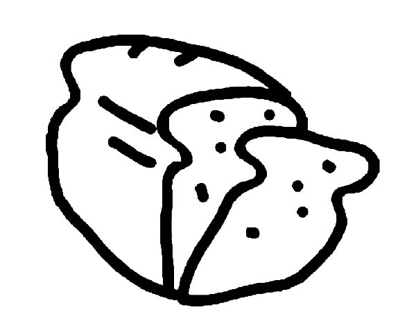 600x463 Drawing Bread Coloring Pages Best Place To Color