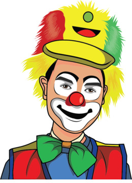 260x360 Clown, Circus, Drawing, Transparent Png Image Clipart Free Download