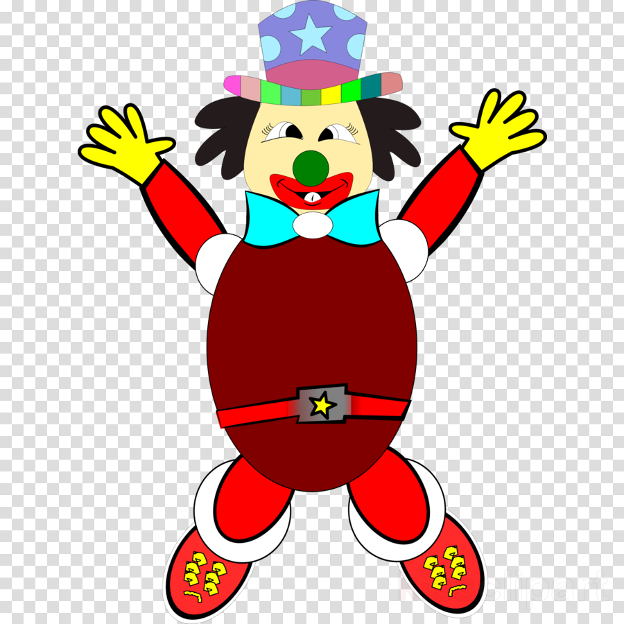 900x900 Clown, Circus, Drawing, Transparent Png Image Clipart Free Download
