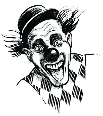 400x450 Clown Face Drawing Scary Coloring Pages Clown Face Kids Simple
