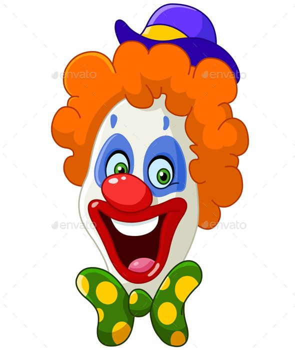 590x700 face of a laughing clown design clown faces, clown images