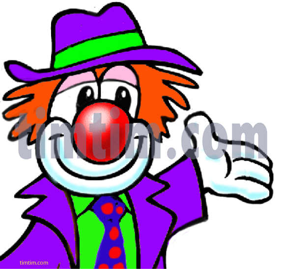 574x548 Free Drawing Of Clown Hand From The Category People