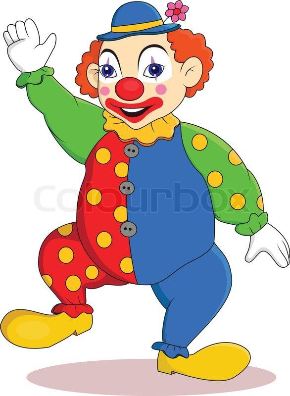 586x800 Funny Clown Cartoon Stock Vector Colourbox