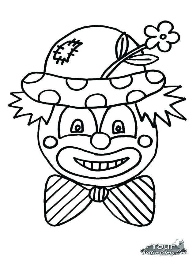 640x849 Clowns Coloring Pages Running