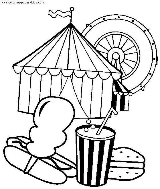 559x659 Circus Printables Circus Clowns Color Page