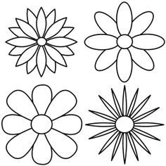 Drawing Of Different Types Of Flowers