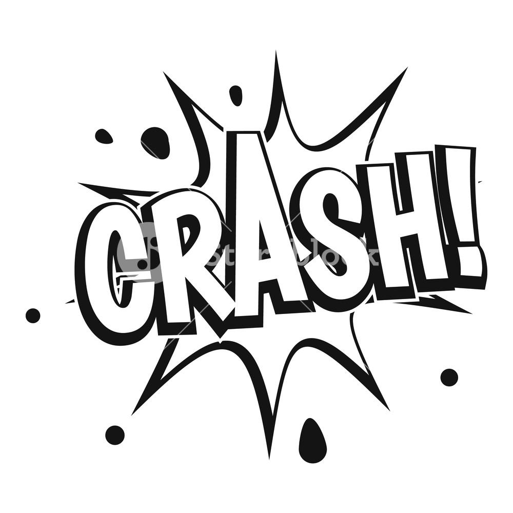 1000x1000 crash explosion icon simple illustration of crash explosion