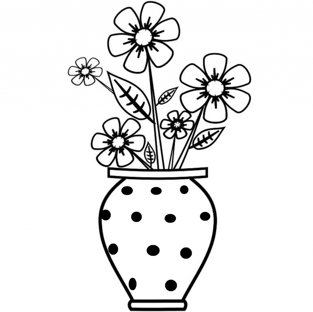 1024x1022 flower vase drawing and flowers in a vase drawing flower in flower