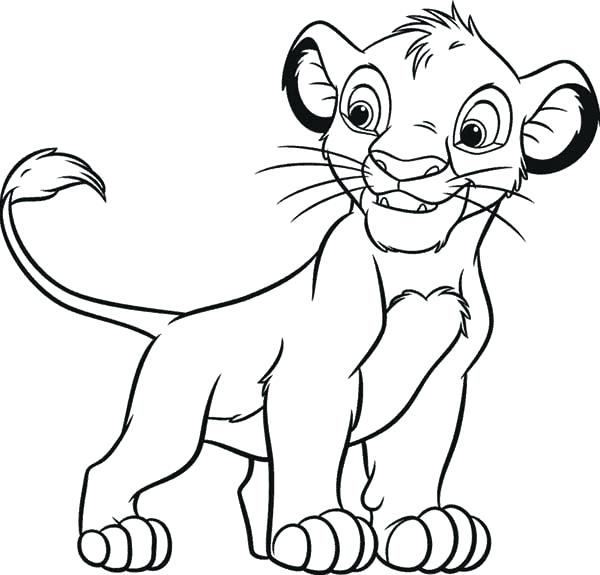 600x575 how to draw lion king simba how to draw lion king step draw lion