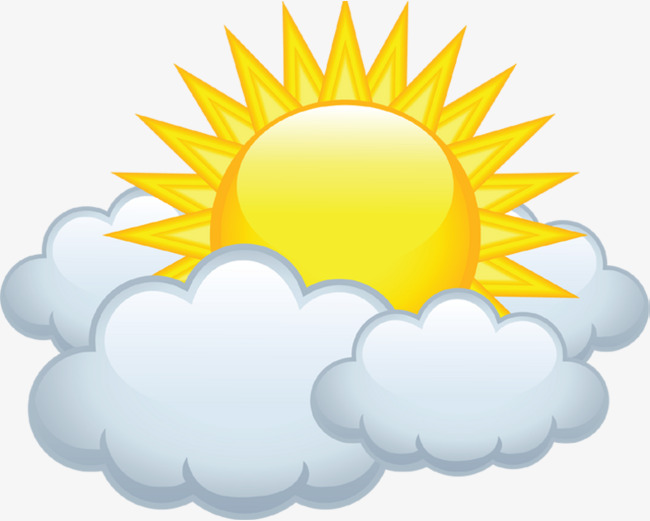 650x521 cloudy clipart cloudy sun cloud material free to pull the image