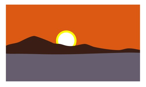 500x299 sun in landscape drawing pictures and ideas on pro landscape