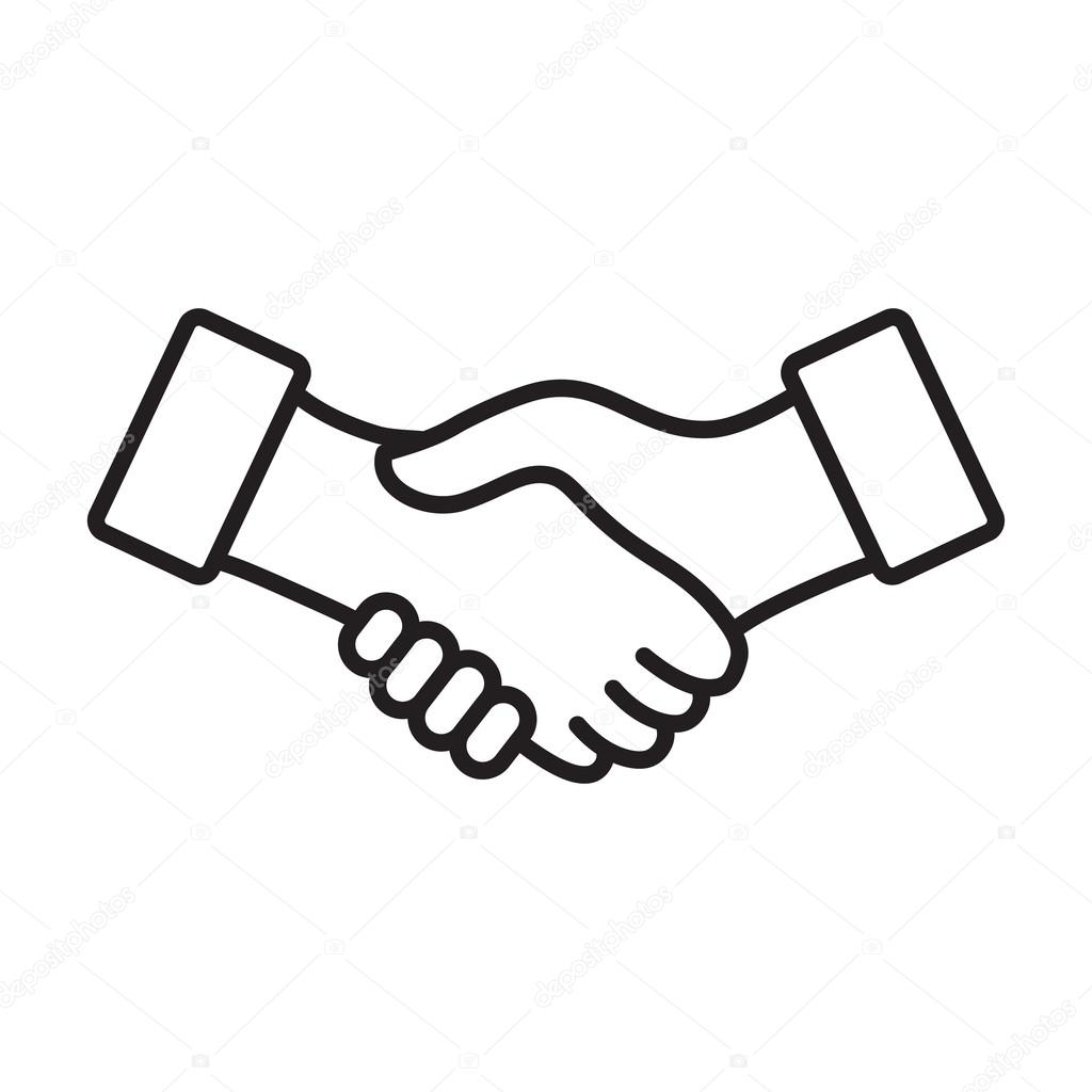 1024x1024 Handshake Drawing Respect For Free Download