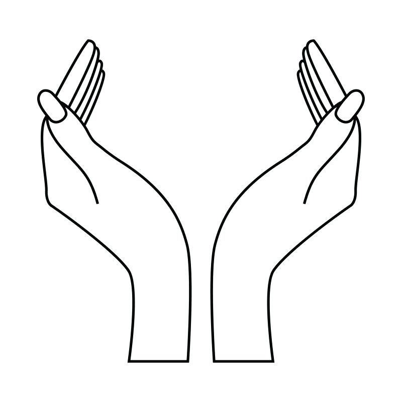 800x800 How To Draw Two Hands Holding Each Other